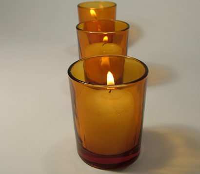Amber colored  votive holders